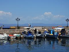 Greece (Lesvos Island)-Fishing boats of Skala village