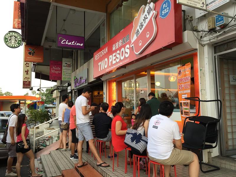 The queue at Two Pesos SS2