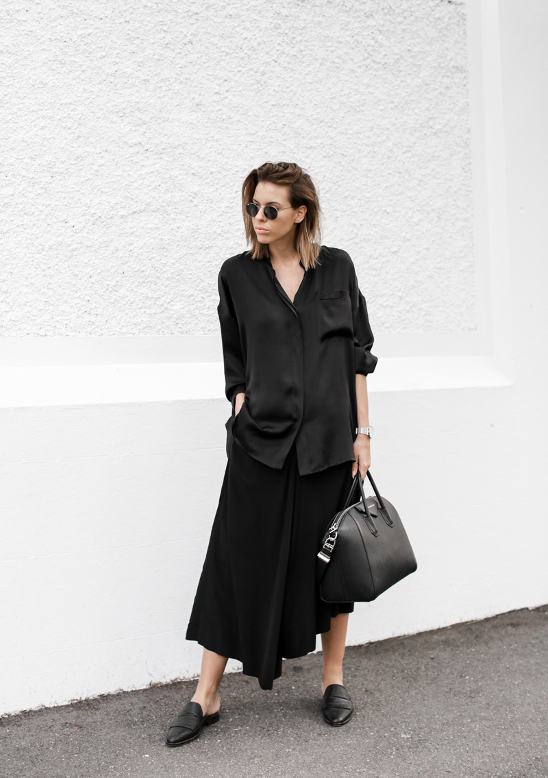 modern legacy, fashion blog, street style, blogger, all black, Bassike, Givenchy Antigona Medium, loafer mules, resort, Haider Ackermann (1 of 1)