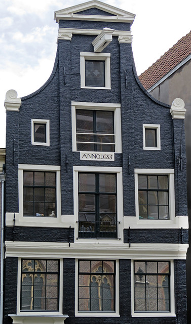 The typical roofline of a Dutch house in Amsterdam
