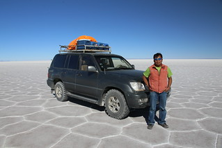 Our Driver.  Uyuni Salt Flat.  Bolivia.