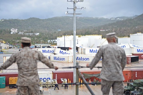 31st MEU and Ashland transport water into Saipan