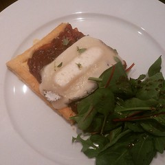 #dinner Goats cheese and onion tart