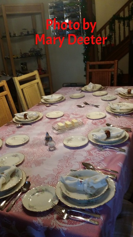 Table set for the Queen Bees