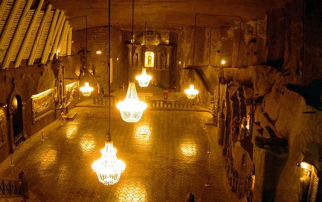 A Cathedral In The Wieliczka Salt Mine Near Krakow