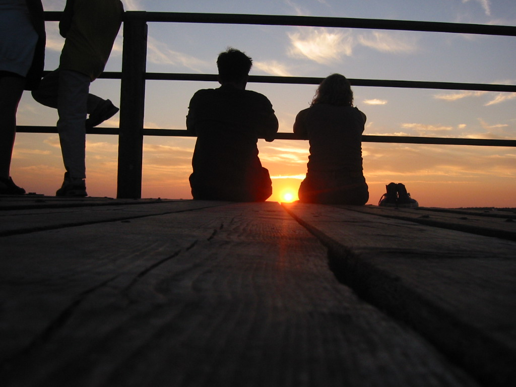 Sunset couple
