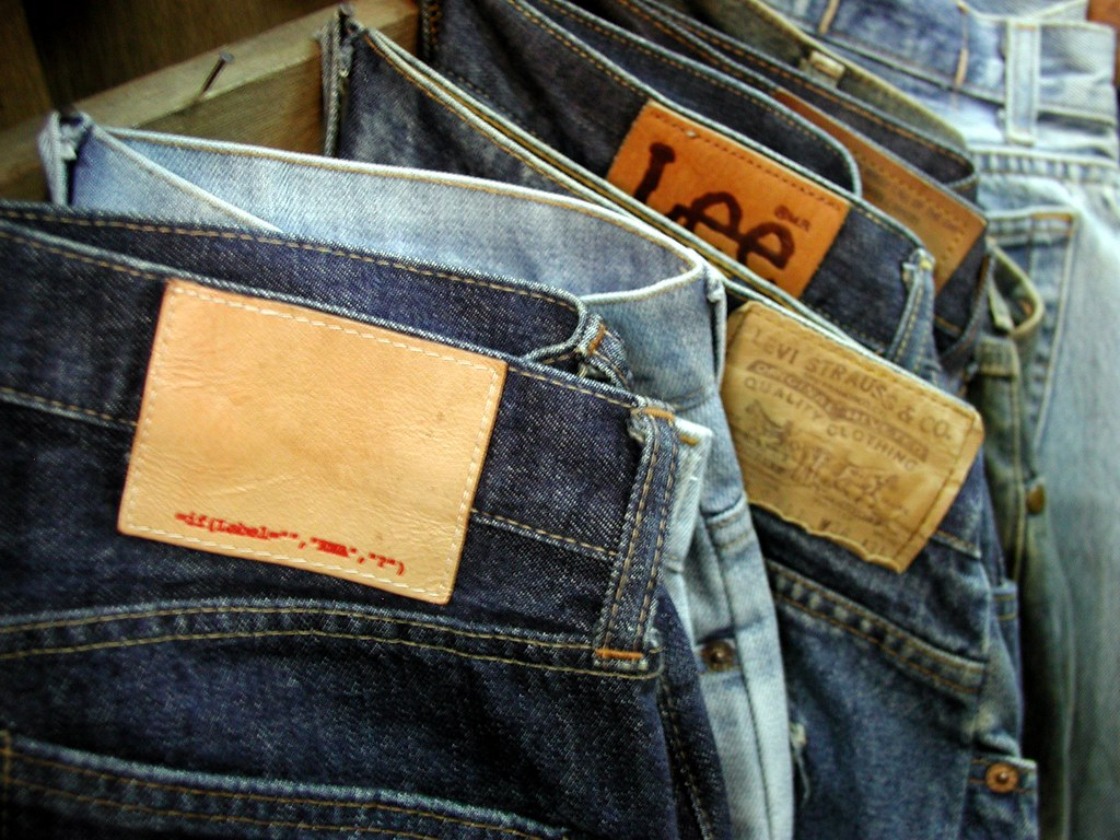 broken counterfeit jeans