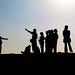 Tourist silhouettes
