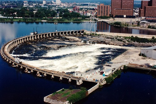 Close Up of The Chaudiere Falls on the Ottawa River