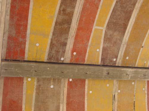an arcosanti ceiling