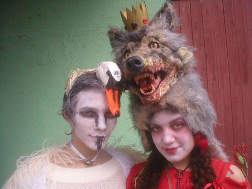 swan boy and wolf girl