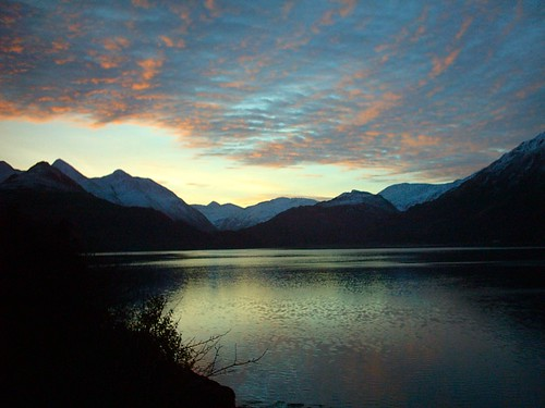 loch scotland duich reflection sunrise red sky