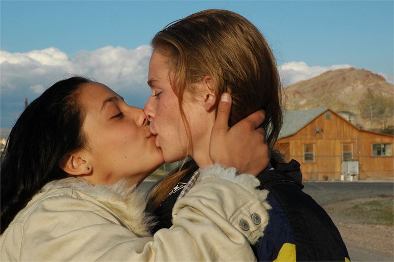 couple women kissing