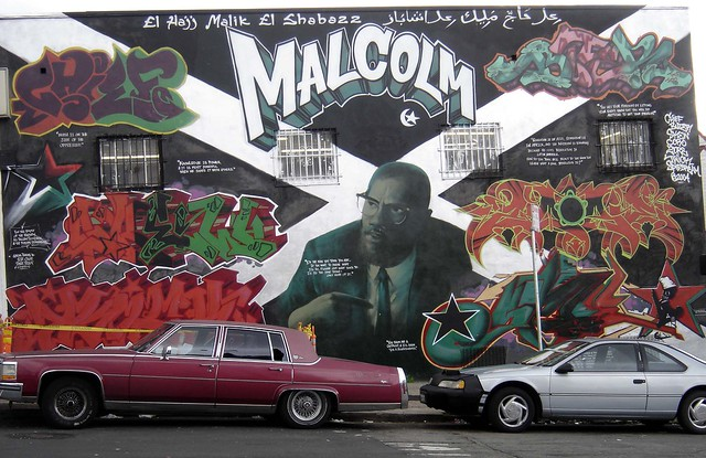 Book review black muslims in the us history politics for Malcolm x mural