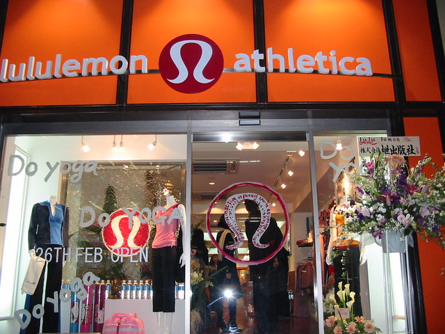 In front of Lululemon store
