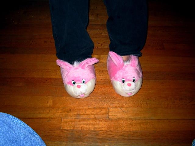 Fuzzy Bunny Slippers