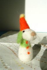 rabbit(0.0), pet(0.0), snowman(0.0), art(1.0), textile(1.0), plush(1.0), stuffed toy(1.0), toy(1.0),