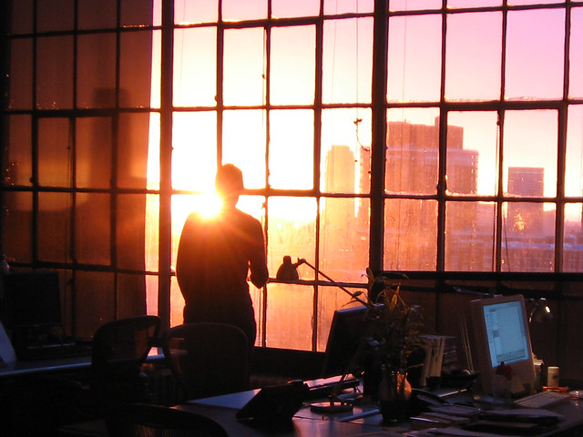 sunset at work.