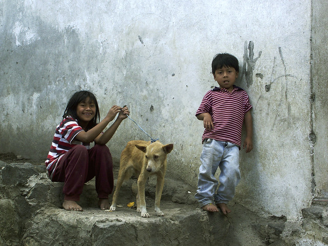 Children in Santiago Atitlan