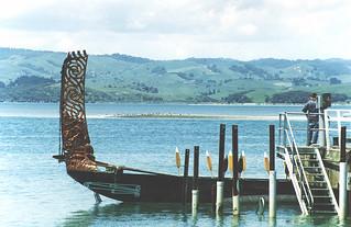 Waka (canoe) sternpost, Kawhia