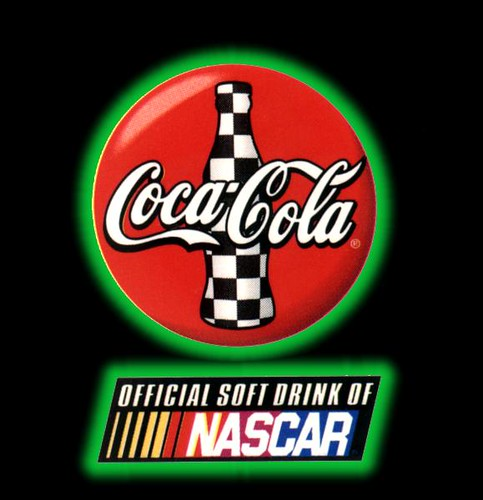 Nascar Racing Wallpaper: Green Neon Nascar Coca-Cola Logo