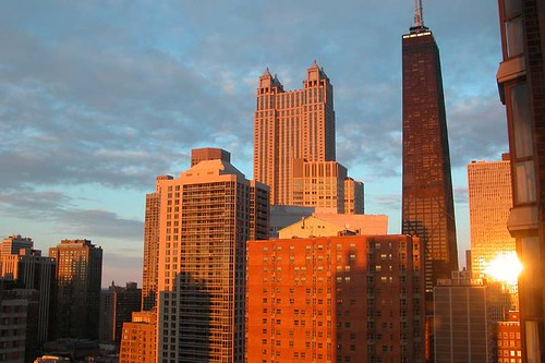 chicago - sunset