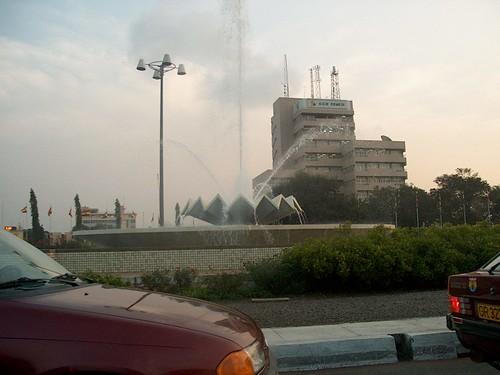 fountain splash at Circle
