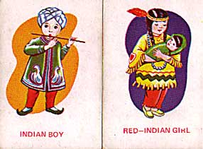 Indian boy, Red Indian girl