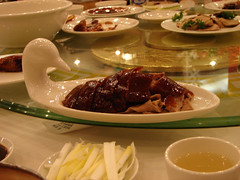 meal(1.0), dinner(1.0), lunch(1.0), breakfast(1.0), supper(1.0), food(1.0), dish(1.0), cuisine(1.0), peking duck(1.0),