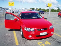 automobile, automotive exterior, supermini, vehicle, compact car, bumper, ford ba falcon, land vehicle,
