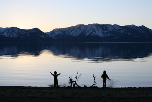 tahoe, lake tahoe, kids, silhouette, sunset… IMG_5816