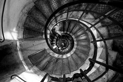Spiral stairs with ghost