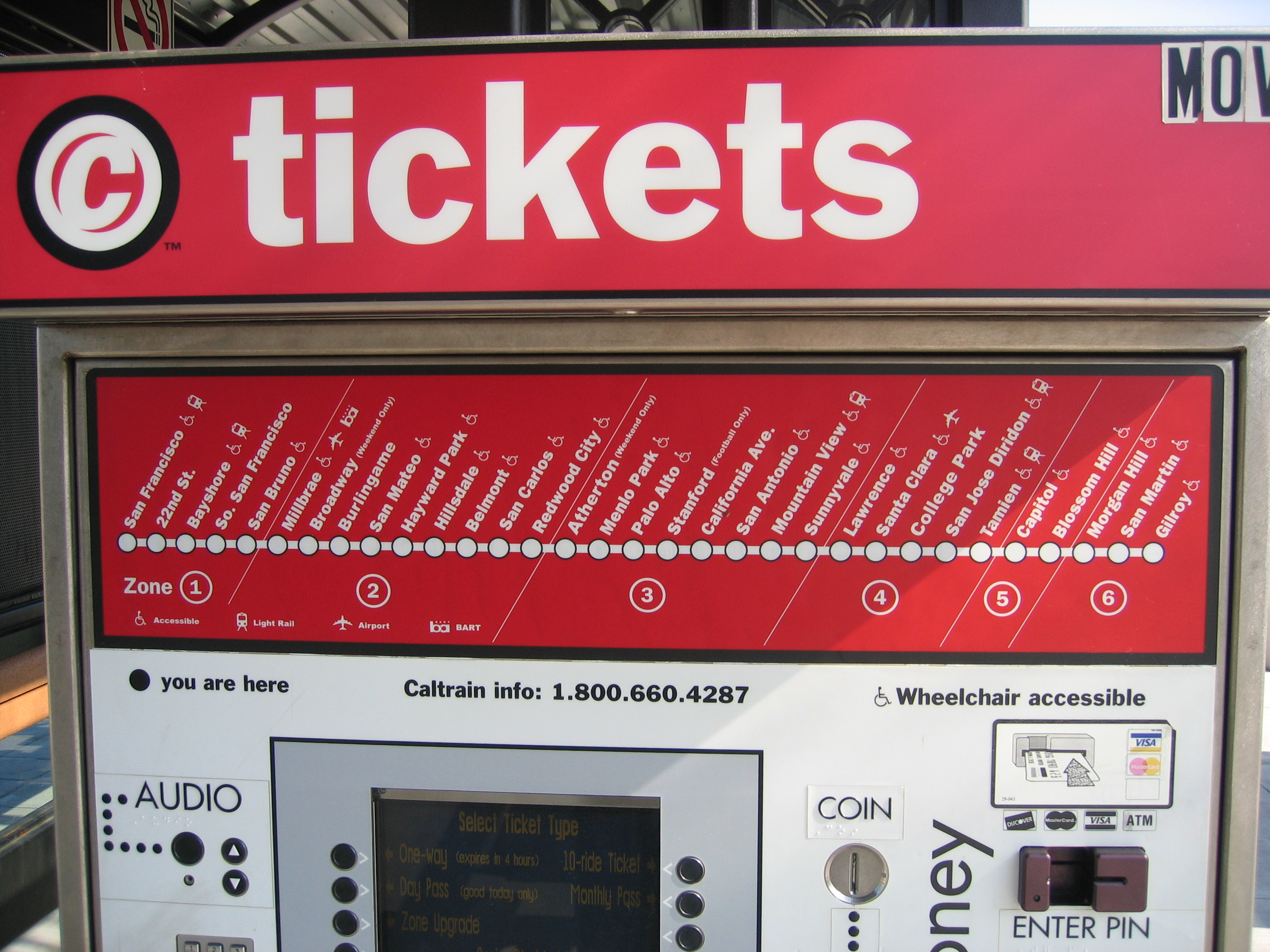 Caltrain Ticketing Machine