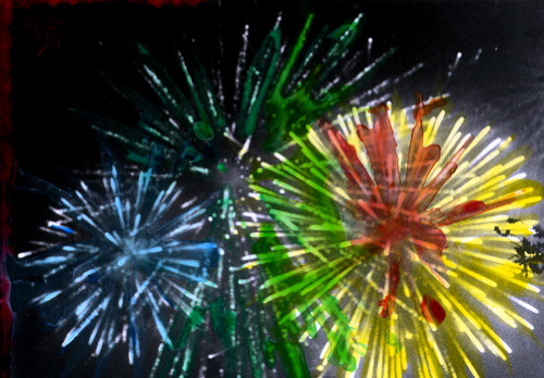 Hand coloured fireworks