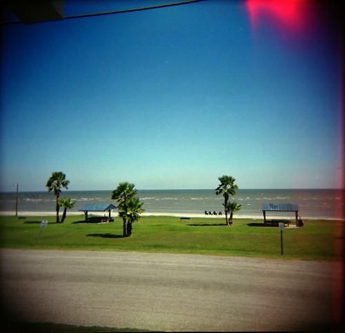 120 beach mediumformat square holga texas bluesky gulfcoast portoconnor