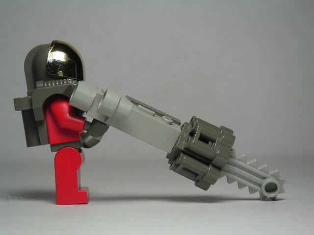 chain saw machine gun