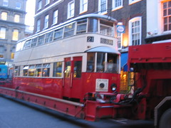 Tram in Covent Garden.
