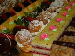 meal(0.0), breakfast(0.0), baking(1.0), petit four(1.0), sweetness(1.0), baked goods(1.0), fruit cake(1.0), food(1.0), dish(1.0), pã¢tisserie(1.0), dessert(1.0), cuisine(1.0), danish pastry(1.0),
