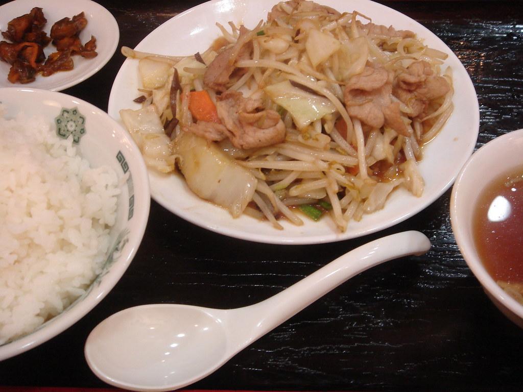 日高屋 肉野菜炒定食