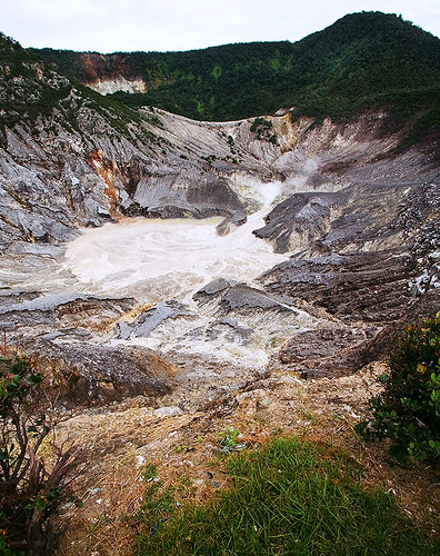 indonesia landscape volcano java bandung lembang volcanic tangkubanperahu activevolcano