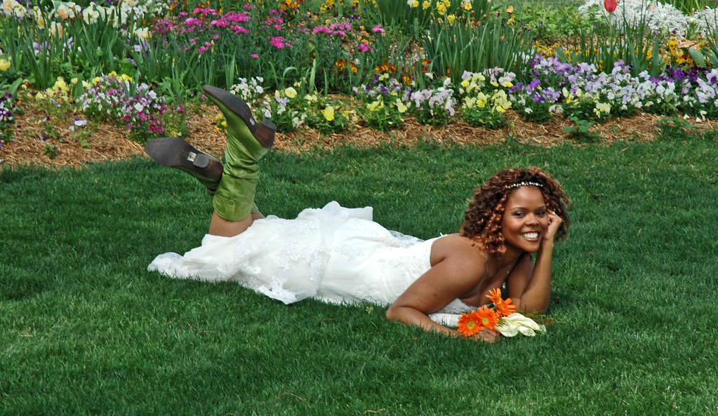 Bride in Green Boots