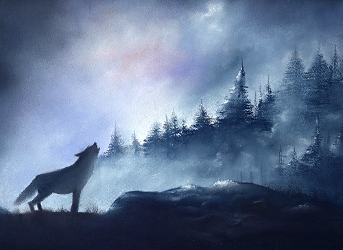 Wolf On Mountain : galleryhip.com - The Hippest Galleries!