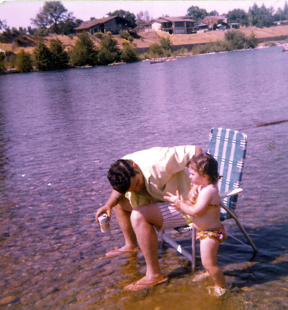 Dad and Diba in the American River