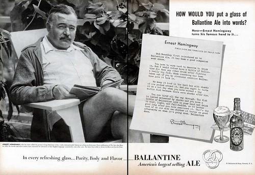 Ballantine Ale - Ernest Hemingway
