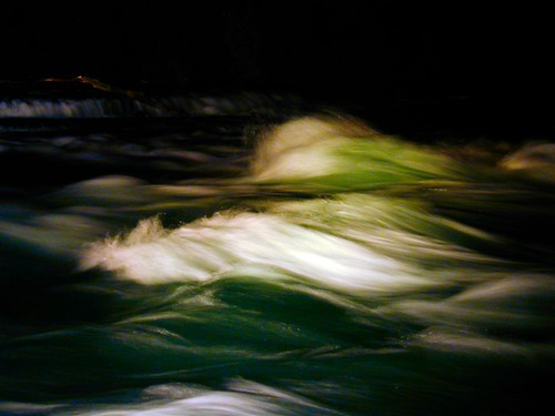Angry Niagara River at Night