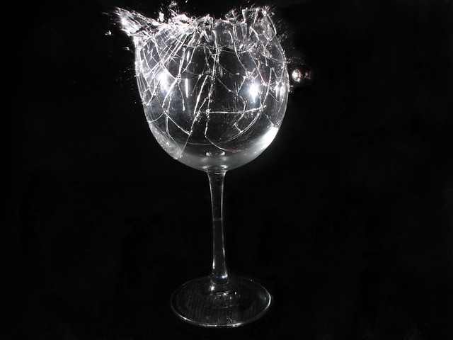 shattering wine glass | Flickr - Photo Sharing!