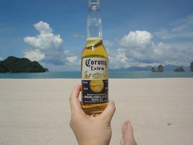 Corona beer at Island of Langkawi.