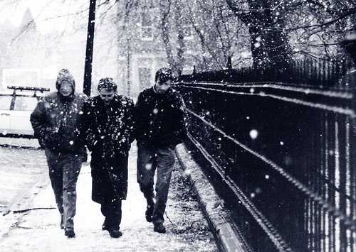 Marching Through Edinburgh Snow