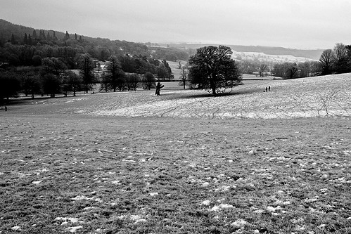 Chatsworth House in a light snow #30
