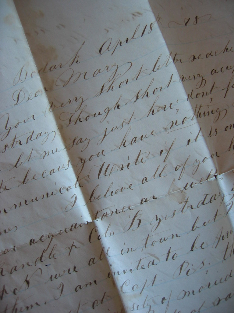 letter from 1878